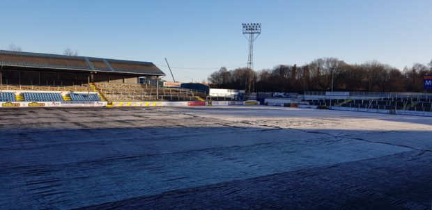 The Cappielow pitch has failed an inspection. Credit: Greenock Morton FC.
