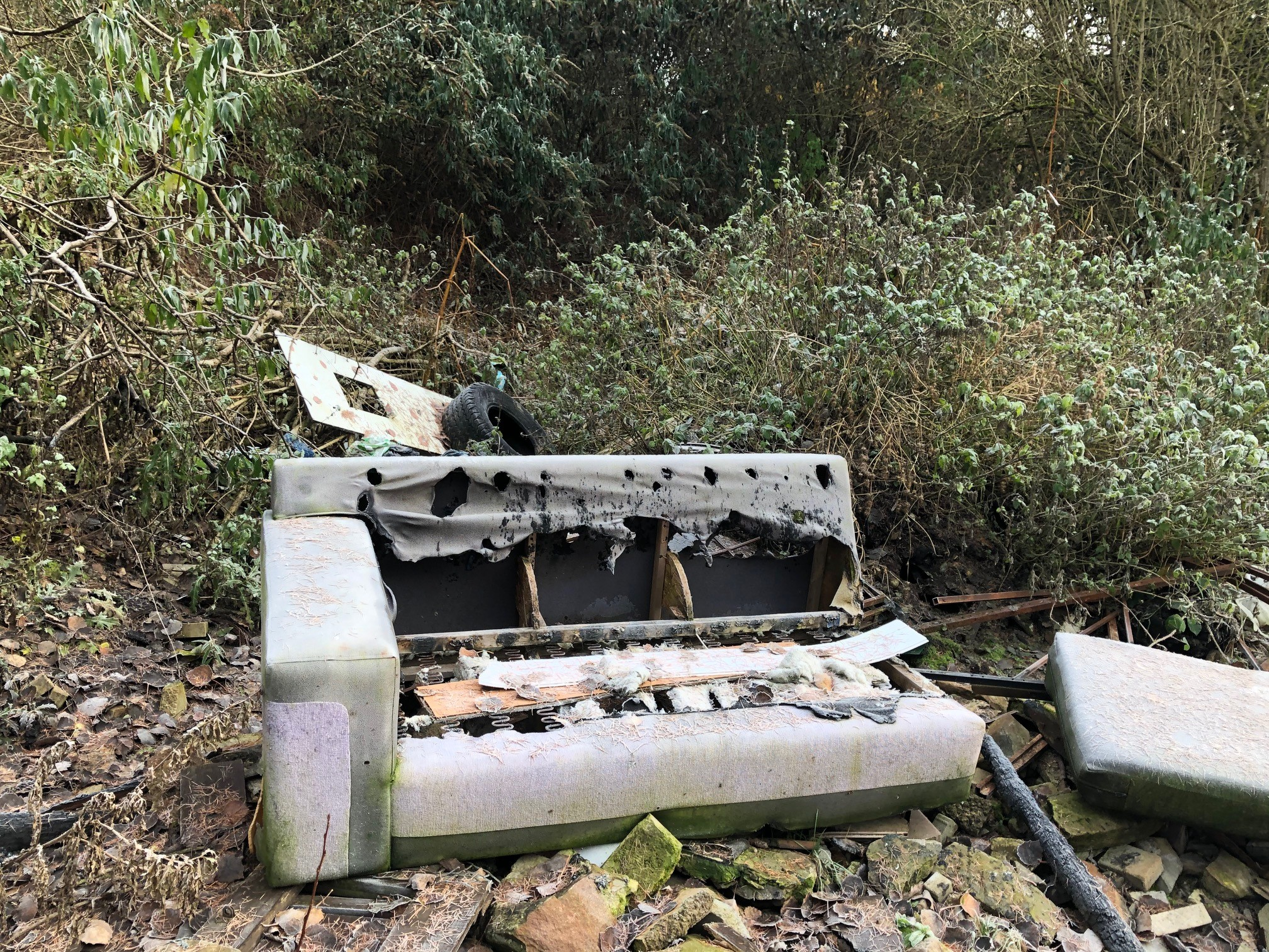 The fly-tipping in Camperdown Park