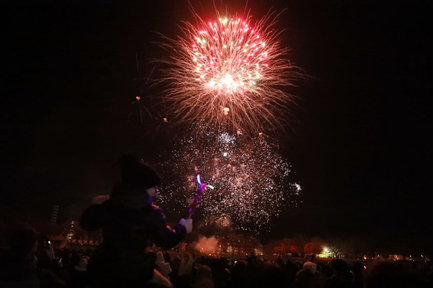 Last year's fireworks display at Baxter Park.