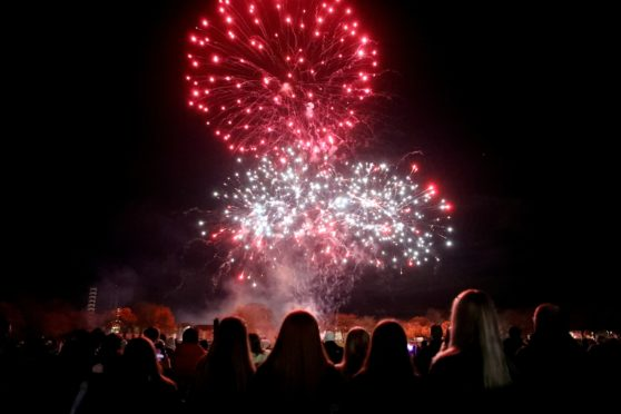 Fireworks at Baxter Park - but could they become quieter in future?
