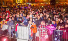 The huge crowd at City Square for Dundee's Christmas lights switch-on.