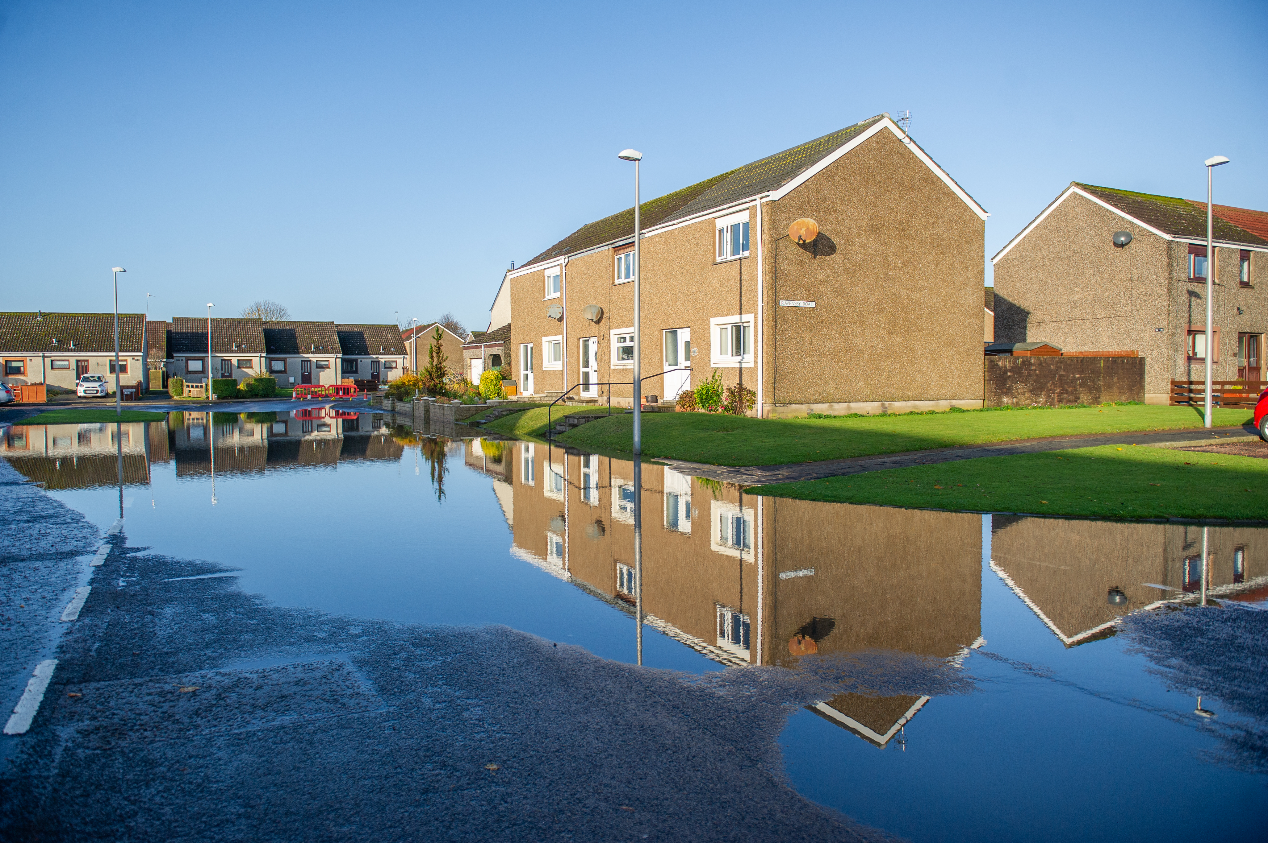 Carnoustie was badly hit by flooding late November.