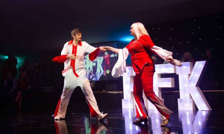 Fiona and Stuart perform their routine.