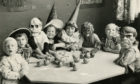 Children at Dallfield Day Nursery enjoying Halloween in 1978.
