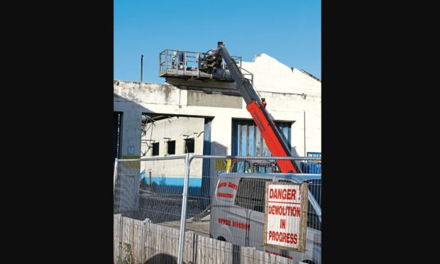 The demolition of the former bus station has begun.