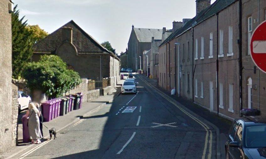 Chapel Street in Forfar (stock image).