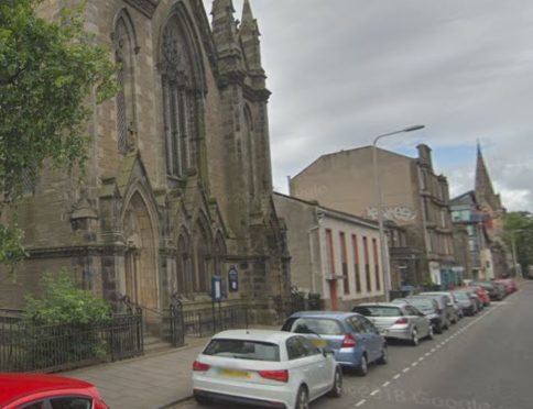Dundee West Church, where the initial offence took place.