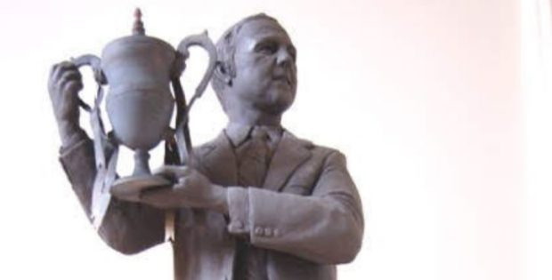 The design of the statue of United's most successful manager, Jim McLean.
