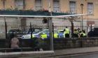 Police at the scene in Victoria Road.