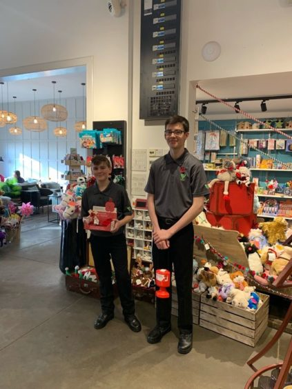 Police Scotland Youth Volunteers in Perth spent the day volunteering with Poppyscotland at Loch Leven's Larder near Kinross on Remembrance Sunday.
