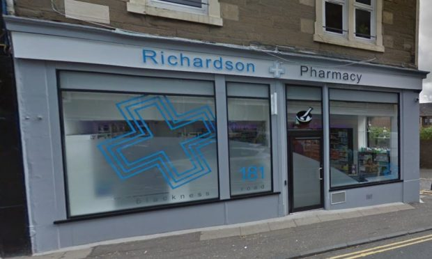 It's alleged the attack took place in Richardson Pharmacy in Blackness Road.