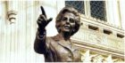 The 'statue' of Margaret Thatcher which was shared on Twitter by a parody account, claiming it would be installed in Dundee.