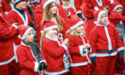 Some of the Santas who took part in this year's dash.