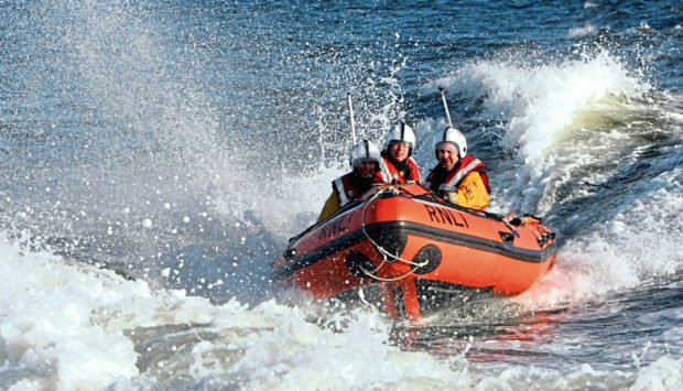 Broughty Ferry Inshore Lifeboat Crew rushed to the woman's aid. (Stock image).