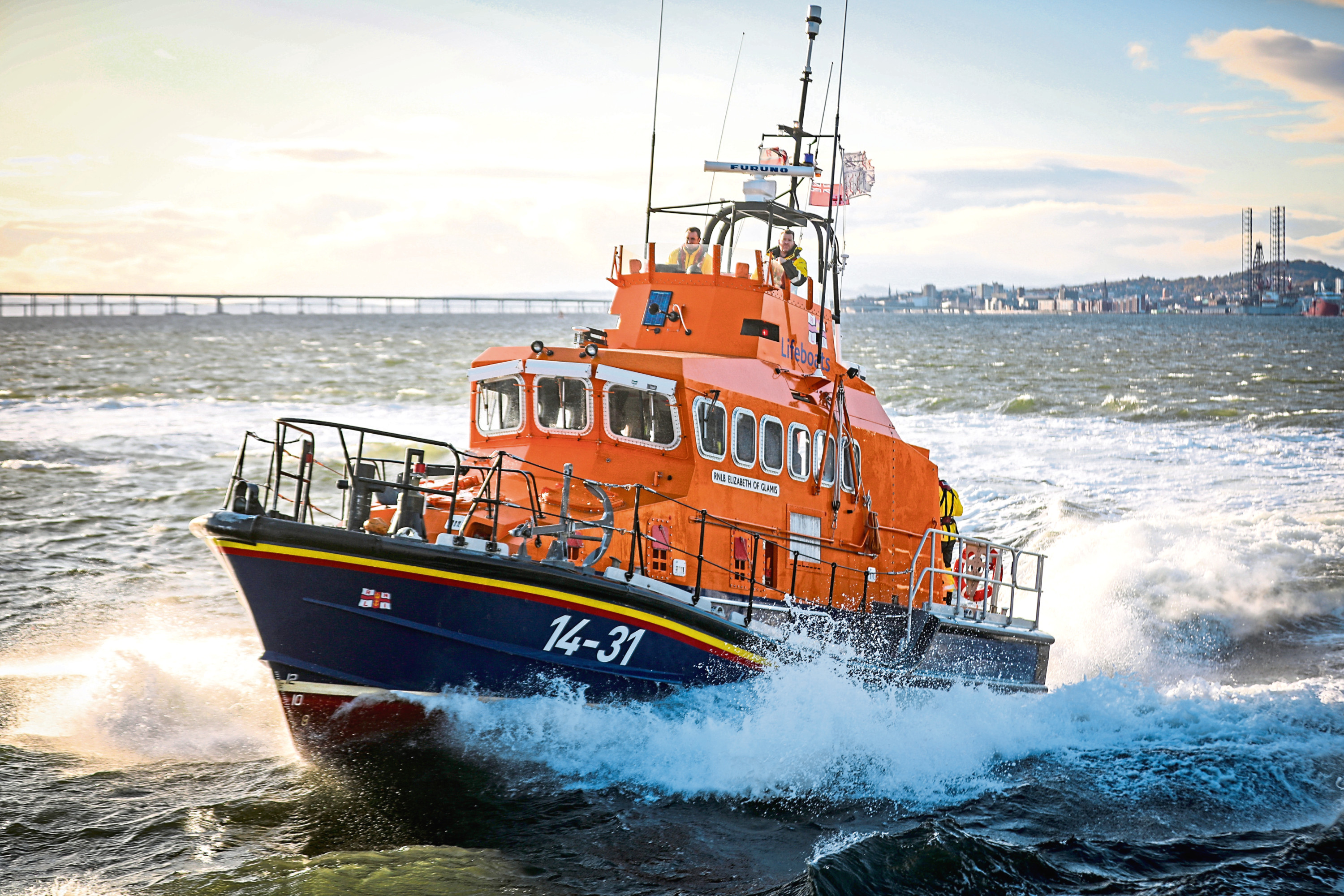 Broughty Ferry's RNLI crew assisted emergency services after reports of concern for a person.