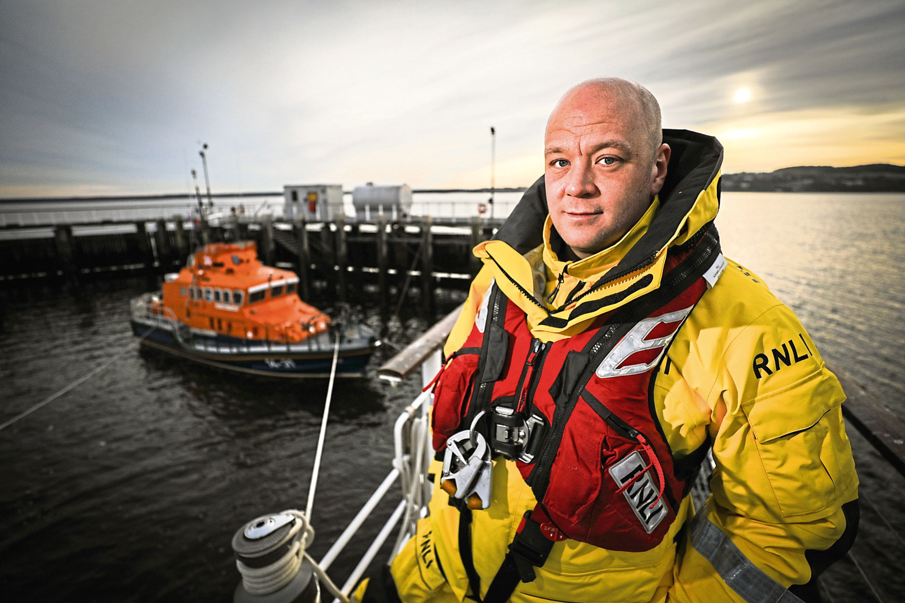 Benny Thomson who joined the Broughty Ferry crew after being saved in a dramatic rescue himself, seven years ago.