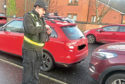 Officers patrolling cars parked on zig zag lines outside Our Lady's RC Primary School and Rosebank Primary School.