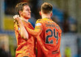 Dundee Utd's Liam Smith and Lawrence Shankland.