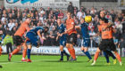 Action from Dundee United and Dundee's derby clash.