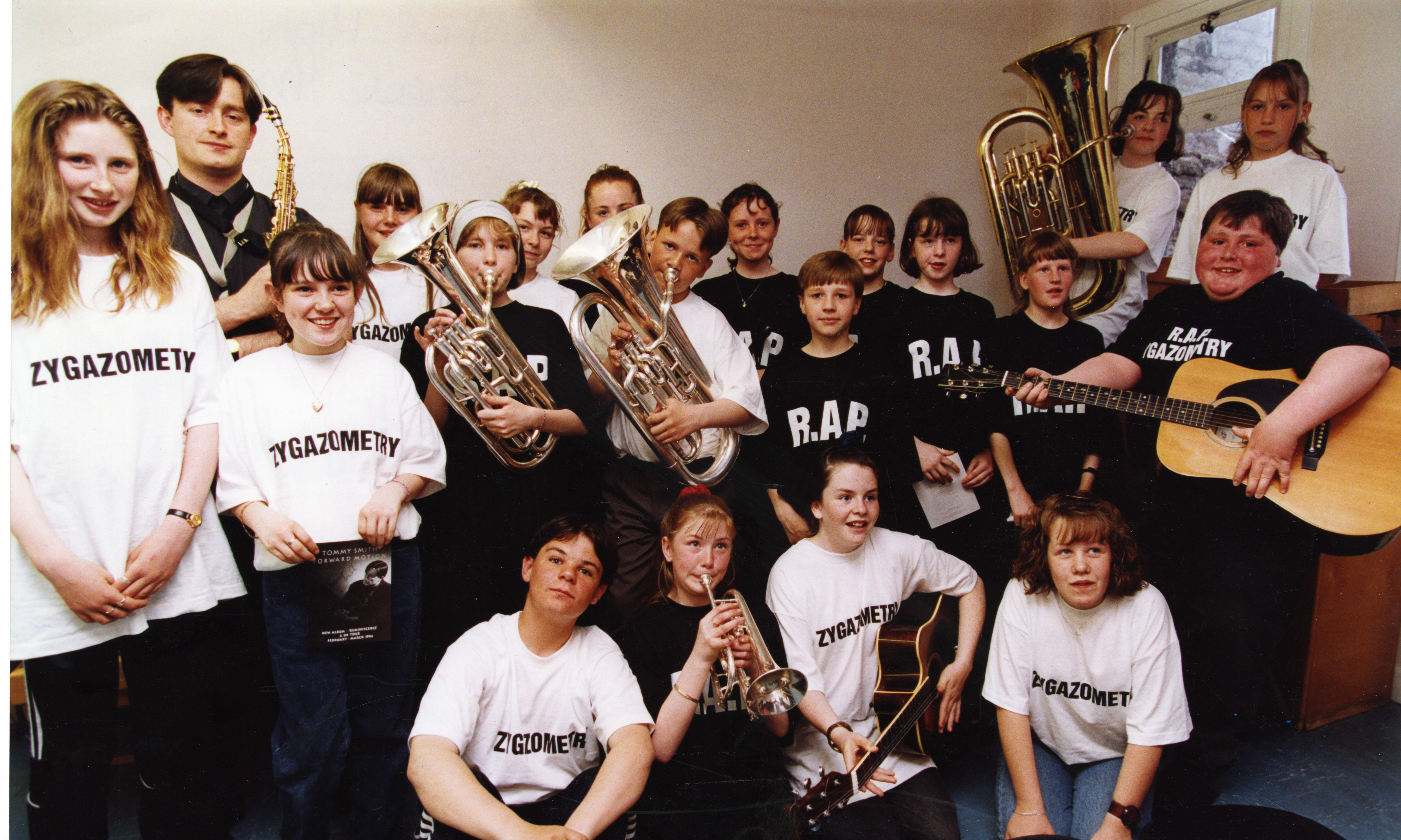 Whitfield and Linlathen High School Jazz Orchestra in 1994.
