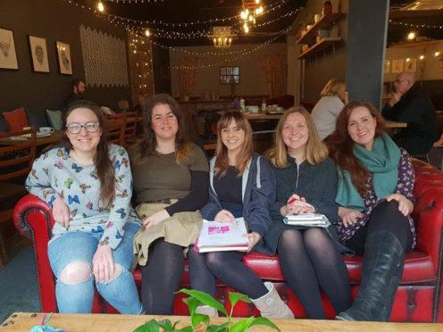 The current team. From left: Hannah Wingfield, Kristina Aburrow, Sam Sherriff (coordinator), Linda Isles, Leah Gurr.