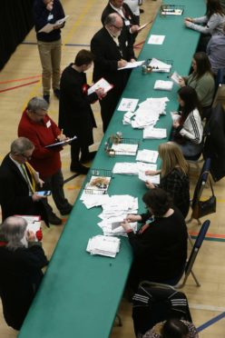Courier News - Stefan Morkis story - Dundee Election Count - DISC CR0017524 Picture shows; the count gets underway at the DISC in Dundee tonight. Thursday 12th December 2019. Dougie Nicolson / DCT Media.