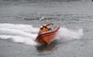 CR0015659  Stonehaven RNLI receive a new state-of-the-art Atlantic 85 lifeboat which will replace their existing Atlantic 75 lifeboat, the last of its class in Scotland  Picture by Paul Glendell   31/10 /2019