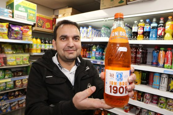 Muhammad Yasin at the The Corner Shop on Forthill Road.