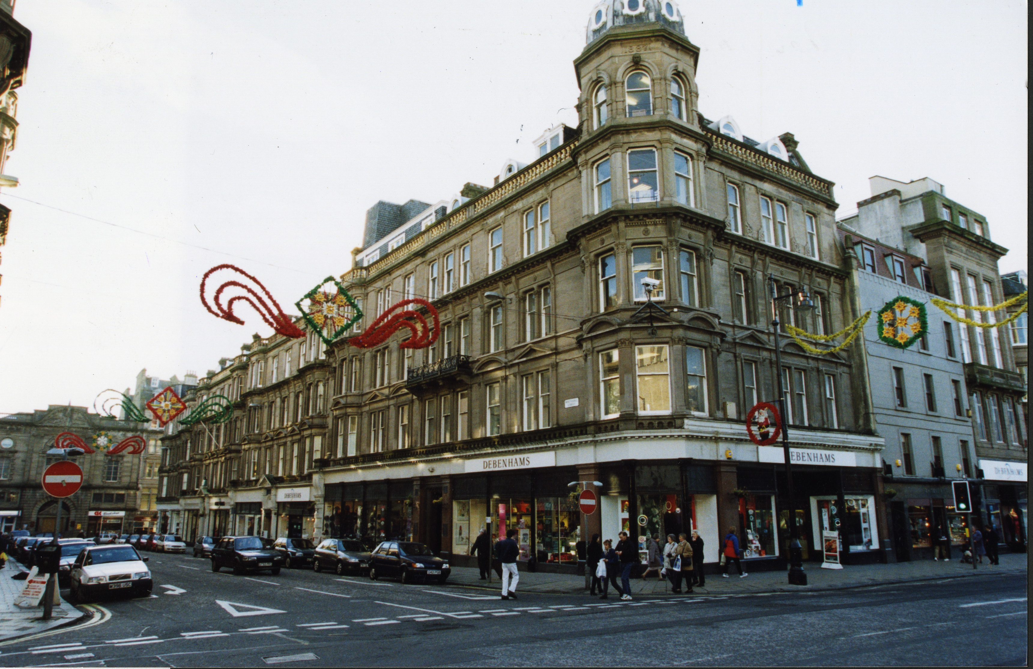 The former Draffens department store, seen here when it was Debenhams in 1999.