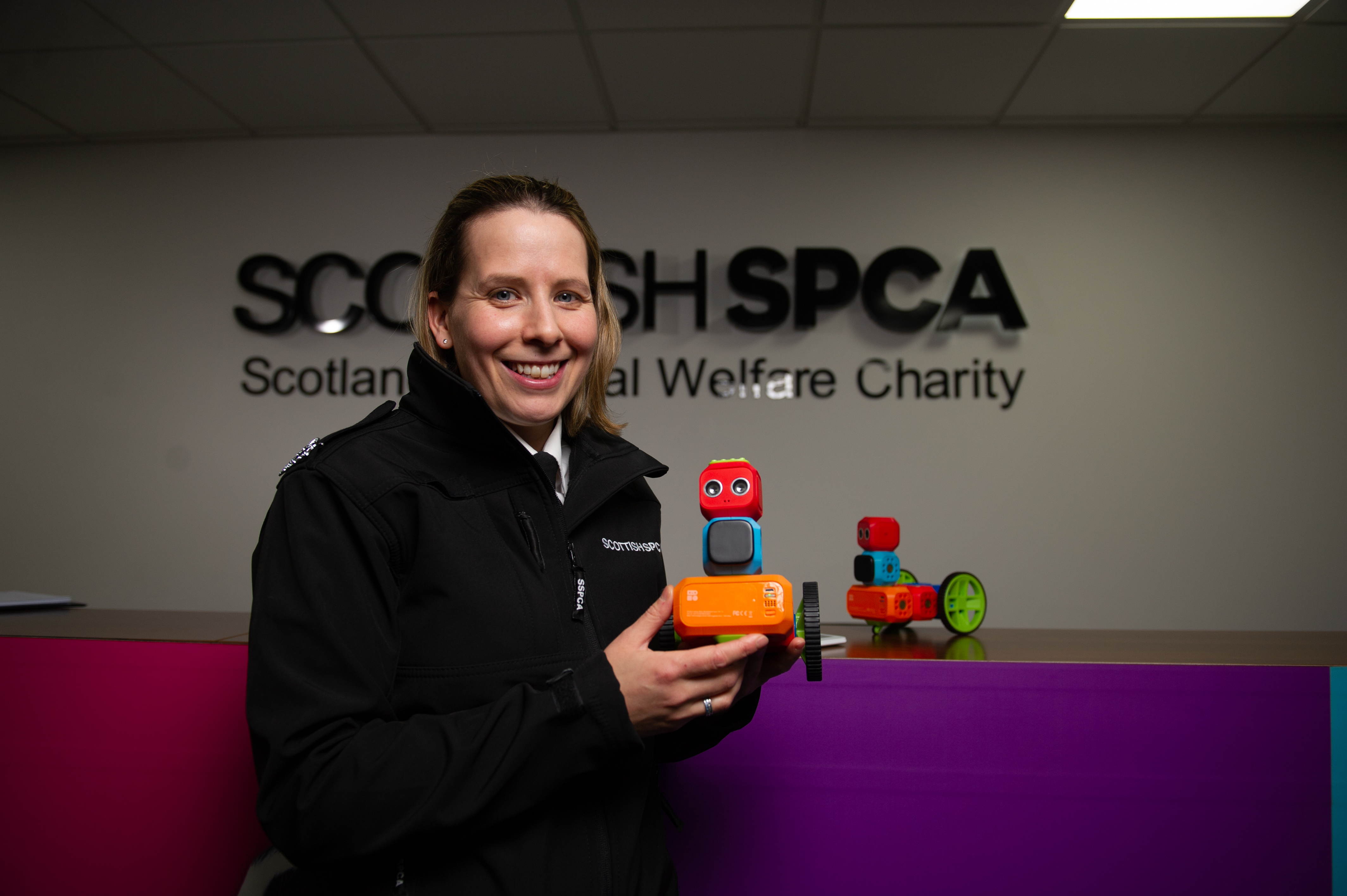 The SSPCA is using robots to teach children how to look after animals.