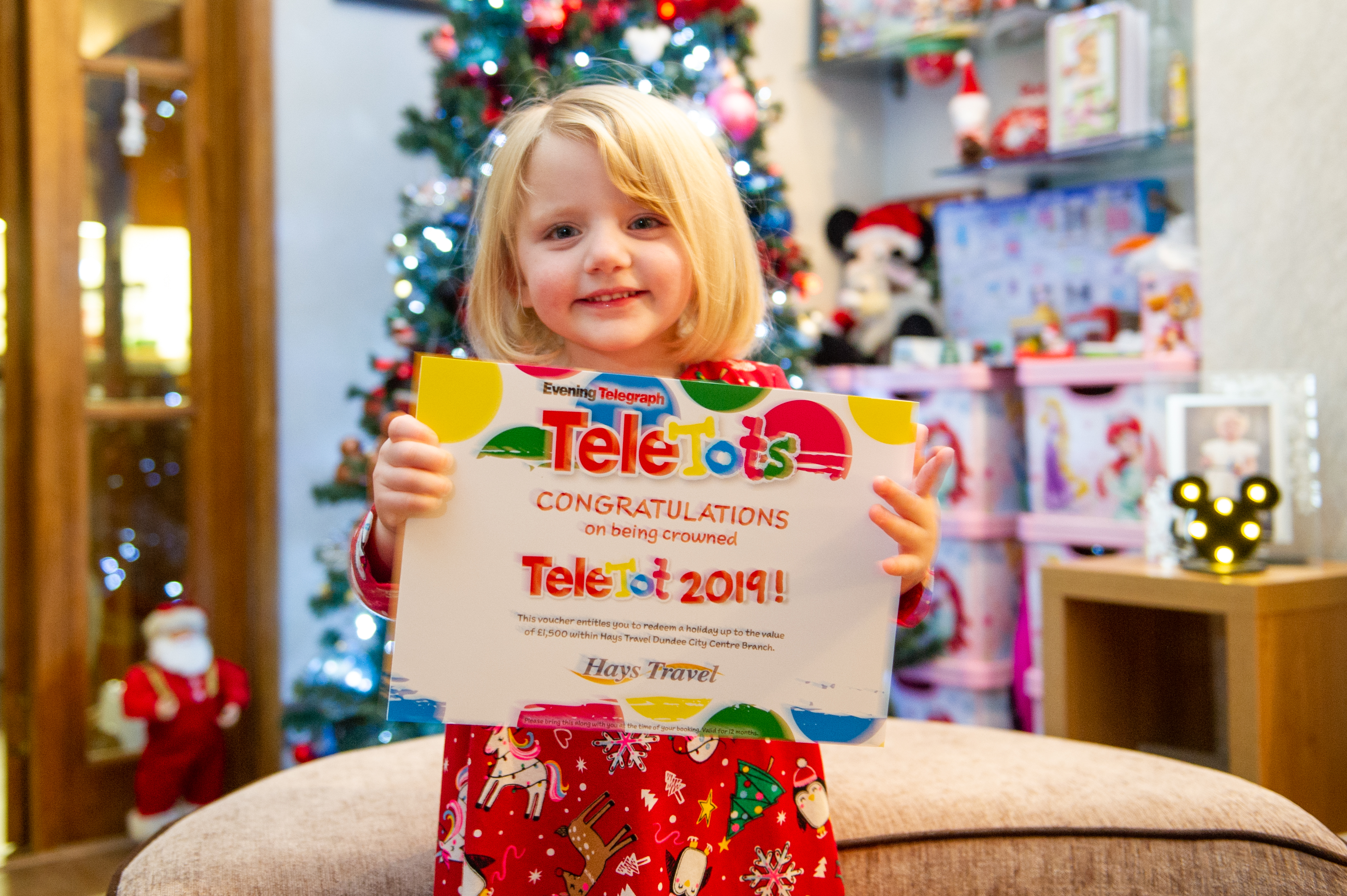 TeleTots winner, 2-year-old Mia Jarret.