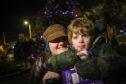 Kade and his Mum, Kassi, enjoyed Invergowrie's Christmas lights