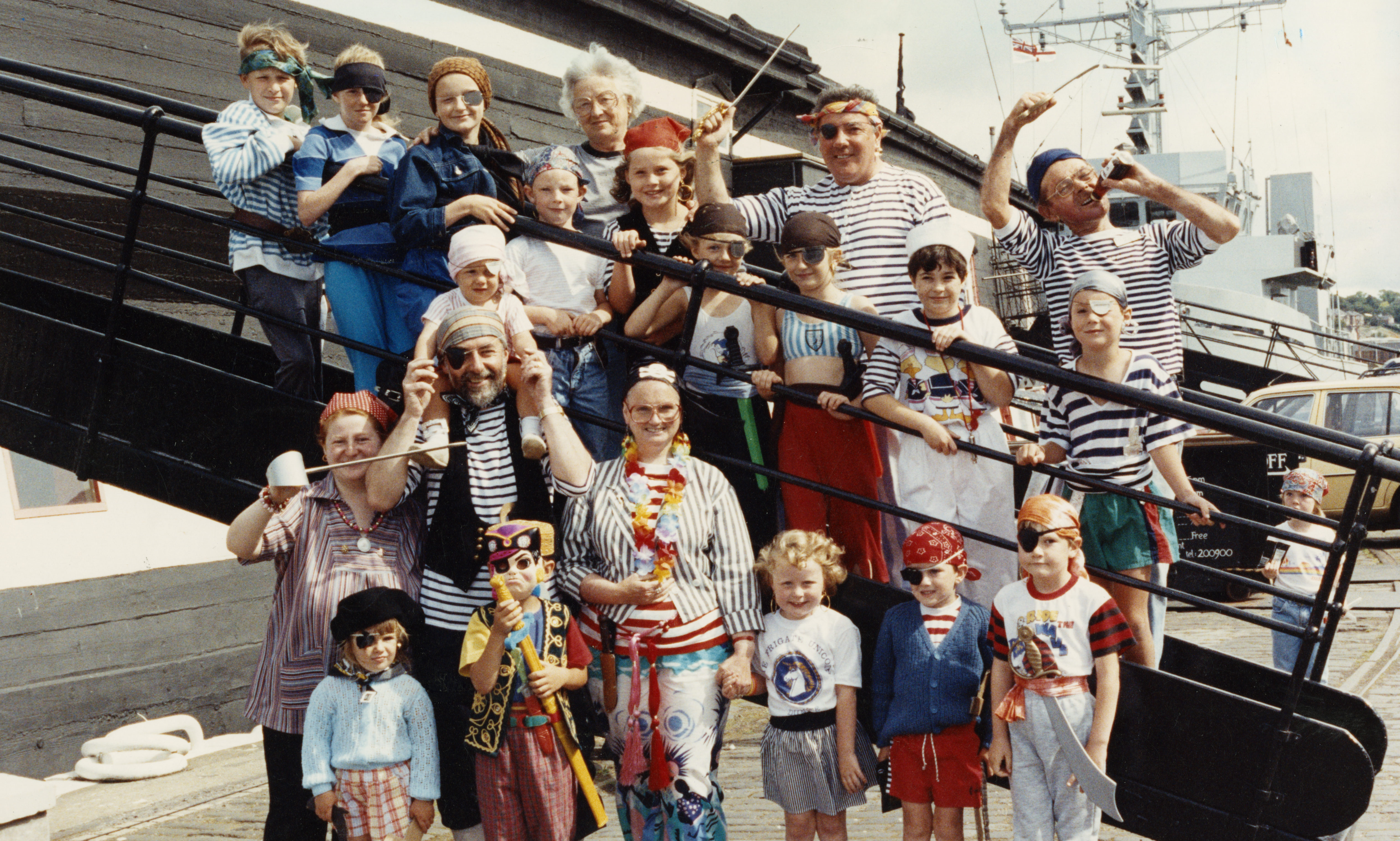 A pirates funday on the vessel in 1990.