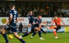 Dundee United's Cammy Smith scores to make it 6-2 during the last Ladbrokes Championship match between Dundee United and Dundee FC on August 30, 2019, at Tannadice Park, Dundee (Photo by Ross Parker / SNS Group)