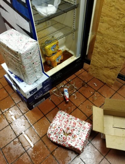 Damage at Old Mill Cafe after the fridge contents exploded.