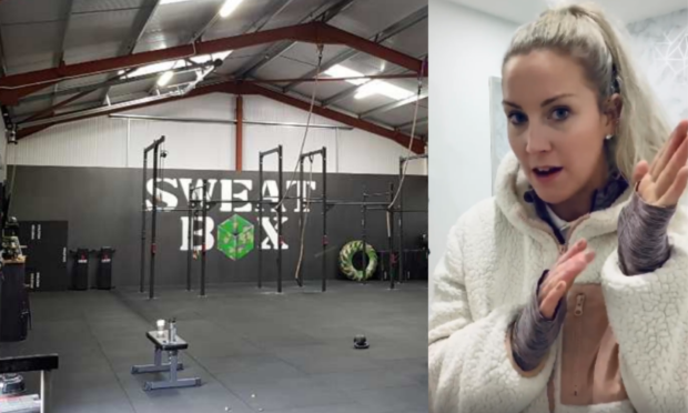 The SweatBox Dundee gym and business co-owner Sheli McCoy.