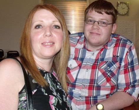 Conor Steel with his mum, Frances Beck.