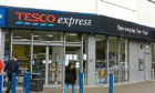 The Tesco Express in Strathmartine Road.