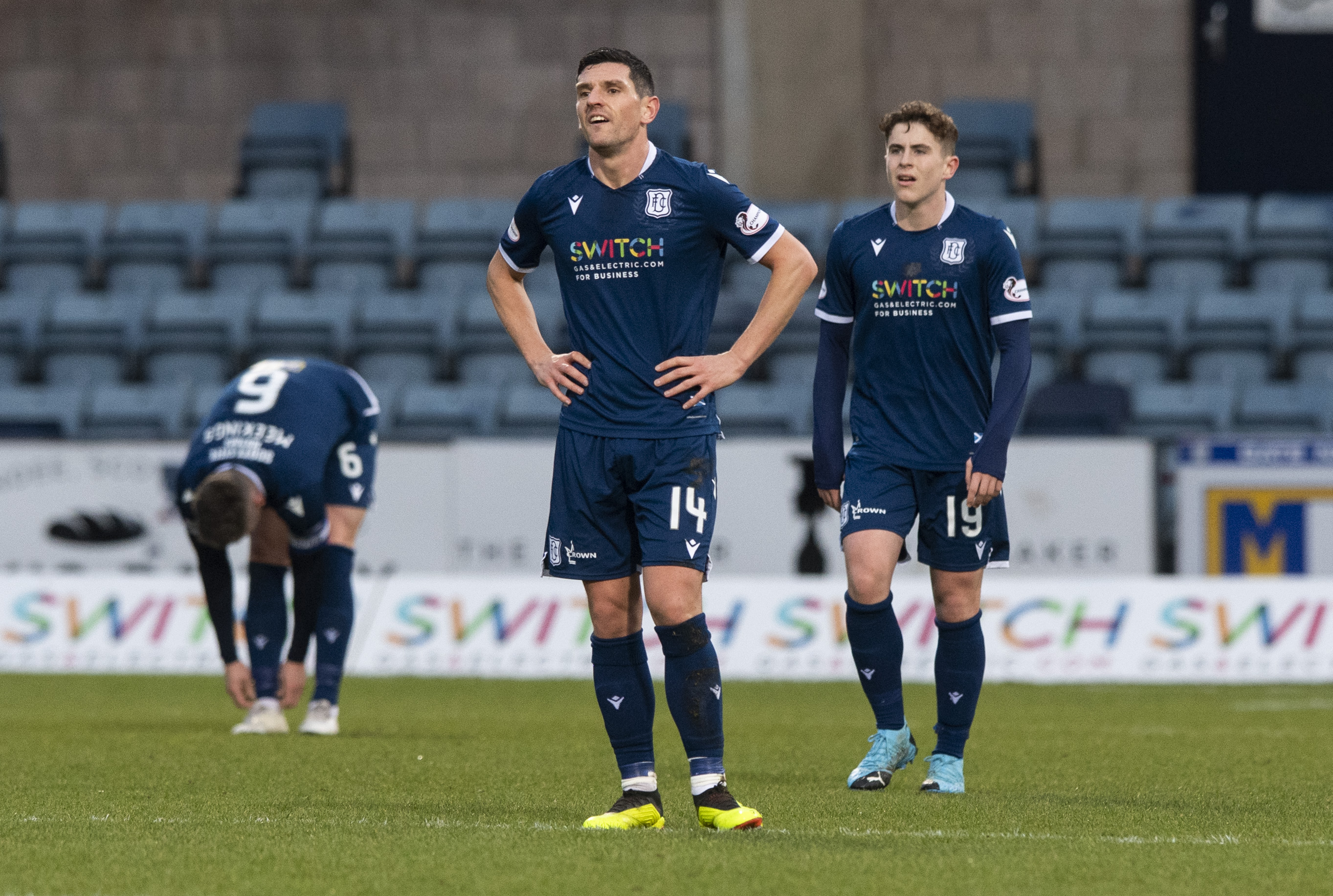 Graham Dorrans looks dejected after Inverness' second goal.