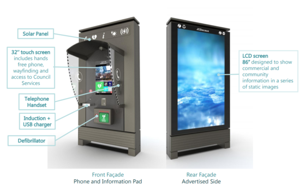 A mockup of how Dundee's new 'digital phonebooths' could look.