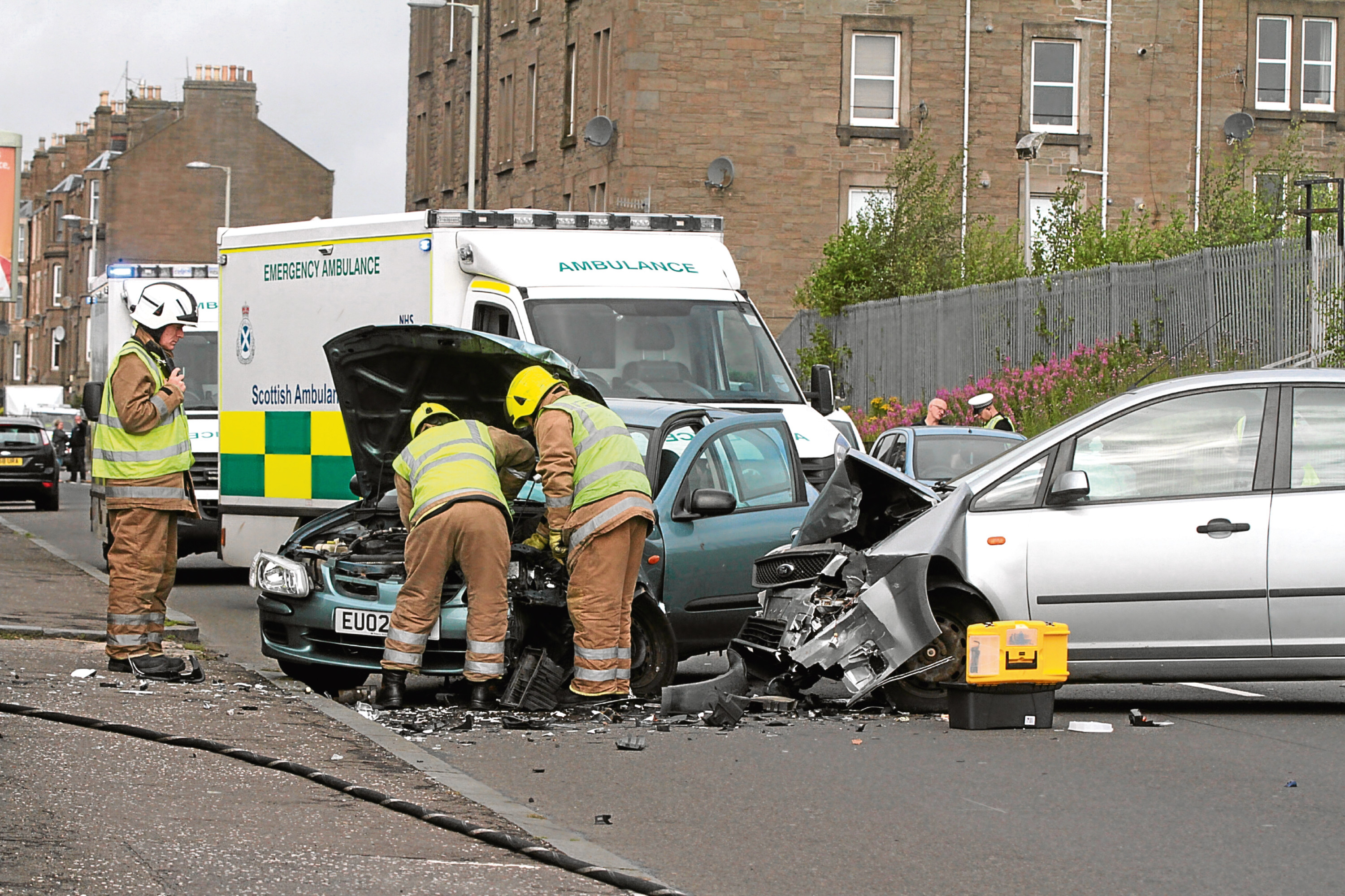 Injuries from road traffic collisions in Dundee have fallen by two thirds.
