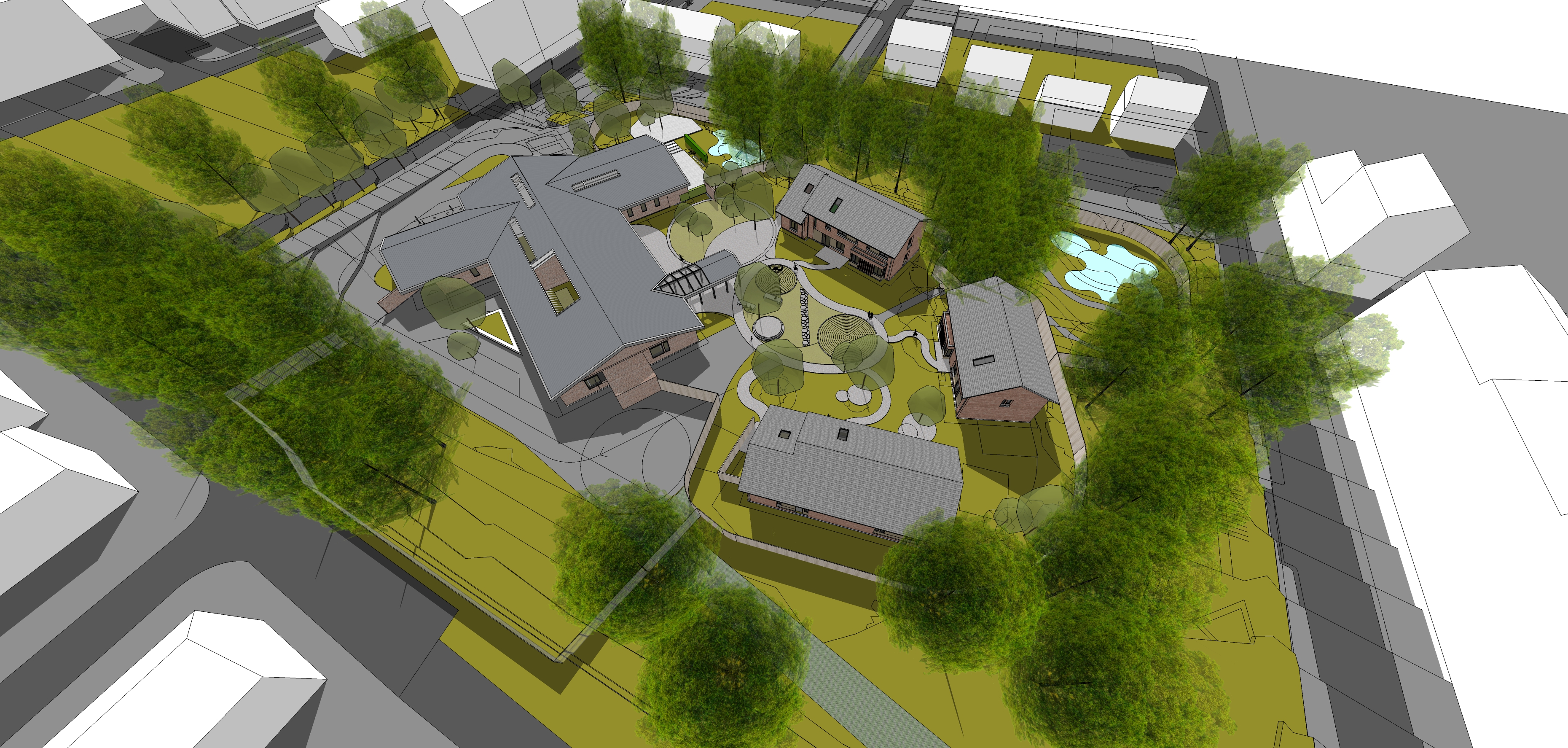 Previous artist impressions of Custody Unit in the Hilltown