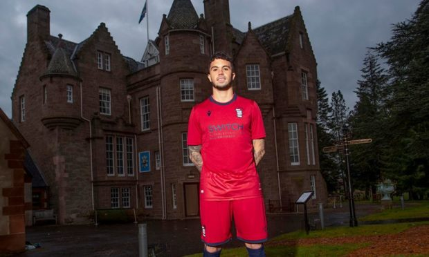 Dundee's Declan McDaid in the club's 3rd kit.