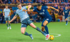Osman Sow in action for while on loan to Kilmarnock earlier this season.