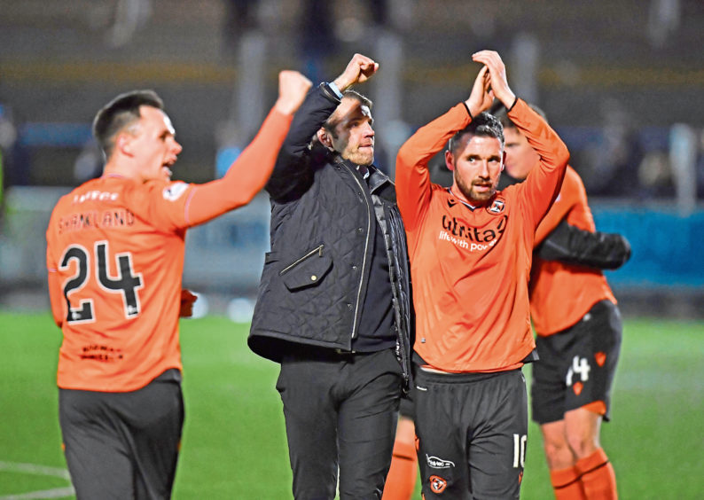 Dundee United will have to wait to celebrate their title in person.