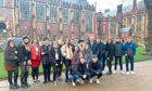 Grove Academy politics and sociology students in London.
