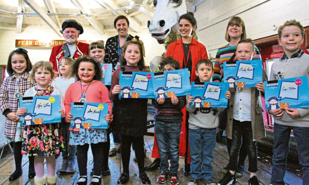 The HMS Unicorn Schools Art Competition Winners from last year.