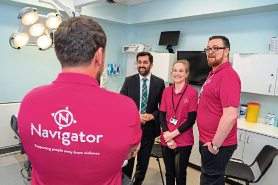 The Navigator service aims to help people to break away from violent lifestyles by reducing the impact of issues related to addiction, mental health and domestic abuse.
