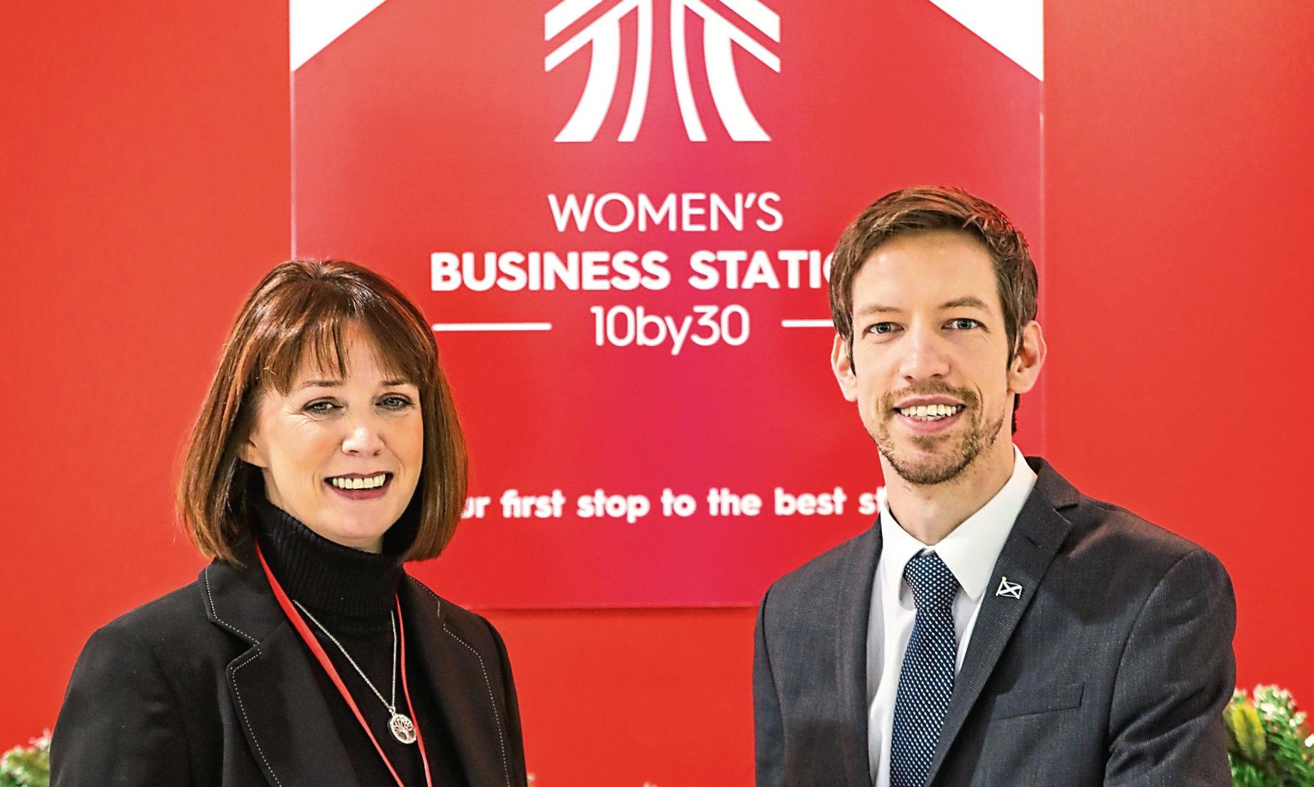 Angie De Vos and Councillor John Alexander.