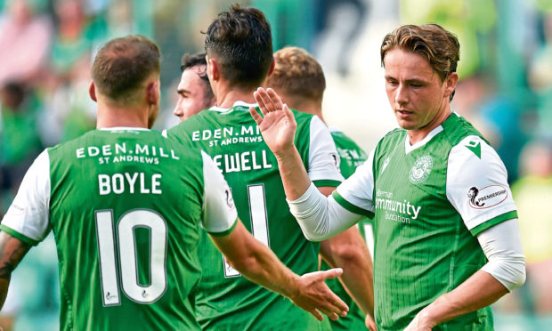 Former Dundee attacker Martin Boyle and ex-United and Dee playmaker Scott Allan (right) will be key men for the Hibees as they call in at Tannadice for a Scottish Cup fourth-round clash.